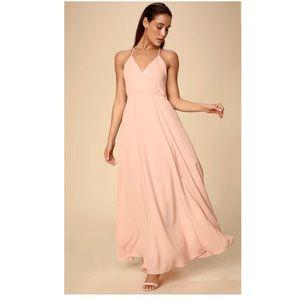 LuLu's Blush Bridesmaid Dress